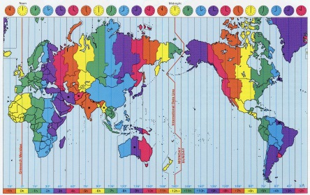 time zones of the world…my body can't keep up!