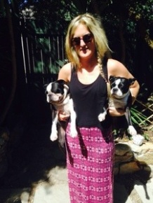 Saying goodbye to my doggies in Cape Town