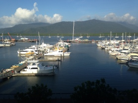 view from our hotel room in Cairns at the Shangri-La