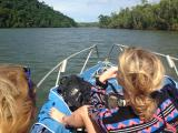 On the boat to Russel Heads