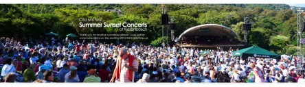 Jeremy Loops playing at Kirstenbosch Botanical Gardens