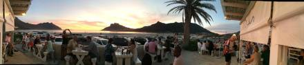 Beautiful sunset from The Dunes Restaurant in Hout Bay (Cape Town, South Africa)