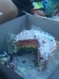 My rainbow birthday cake